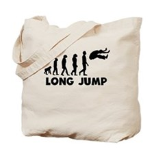 Long Jump Evolution Tote Bag