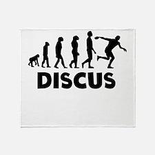 Discus Throw Evolution Throw Blanket