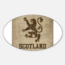 Cute Scottish lion Sticker (Oval)