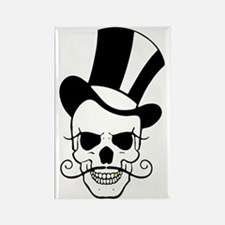SKULL and TOP HAT Rectangle Magnet