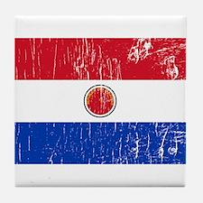 Vintage Paraguay Tile Coaster