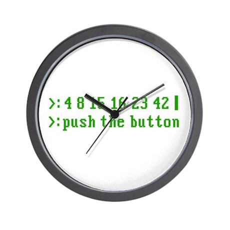 push the button Wall Clock