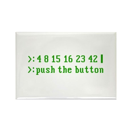 push the button Rectangle Magnet (100 pack)