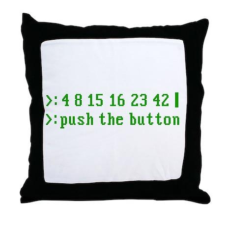 push the button Throw Pillow