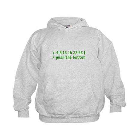push the button Kids Hoodie