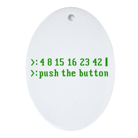 push the button Oval Ornament
