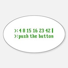 push the button Oval Decal