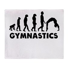 Gymnastics Evolution Throw Blanket