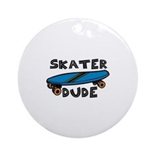 Skater Dude Ornament (Round)