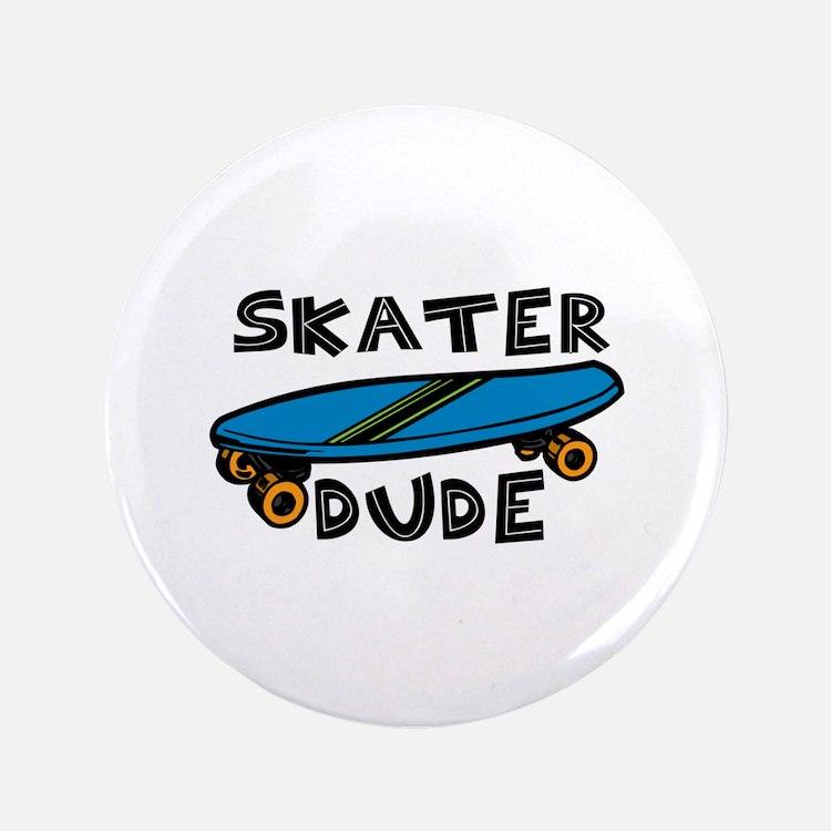 """Skater Dude 3.5"""" Button"""