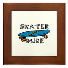 Skater Dude Framed Tile