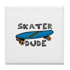 Skater Dude Tile Coaster