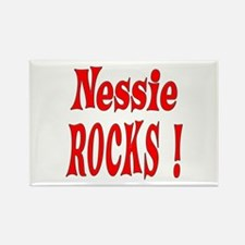 Nessie - Red Rectangle Magnet