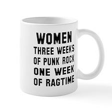 Women three weeks punk rock Mug