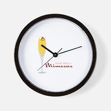 Make Mine Mimosas Wall Clock