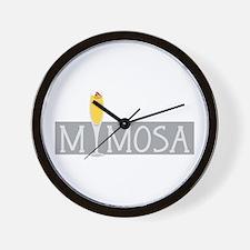 Mimosa Sign Wall Clock