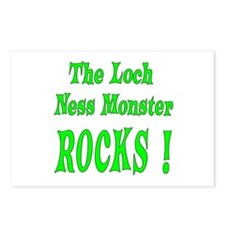 Loch Ness - Green Postcards (Package of 8)