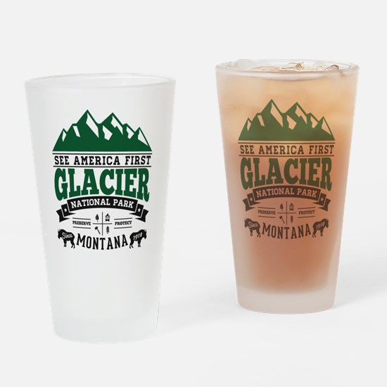 Glacier Vintage Drinking Glass