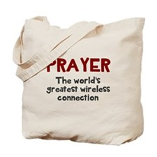 Prayer wireless connection Tote Bag