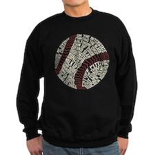 Typographic Baseball Slang Words Sweatshirt