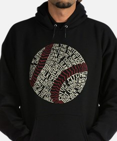 Typographic Baseball Slang Words Hoody