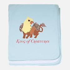 King Of Creatures baby blanket