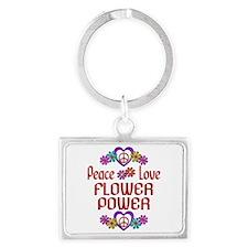 Flower Power Landscape Keychain