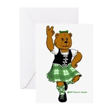 Molly the Highland Dancer Bear Greeting Cards