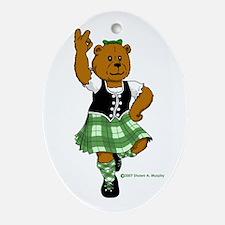 Molly the Highland Dancer Bear Oval Ornament