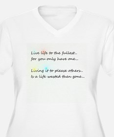 Live Life to the Fullest Plus Size T-Shirt