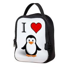 Cute Animals penguin Neoprene Lunch Bag