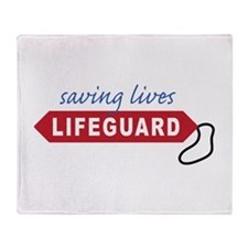 Saving Lives Throw Blanket
