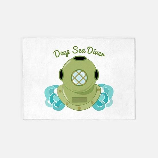 Deep Sea Diver 5'x7'Area Rug