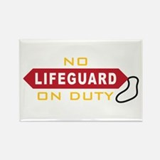 No Lifeguard On Duty Magnets