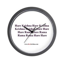 Maha mantra wall clock