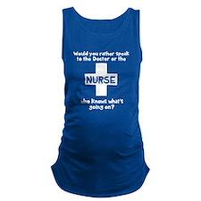 Nurse knows Maternity Tank Top