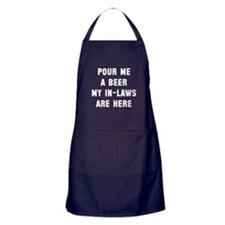 Pour me a beer in-laws Apron (dark)