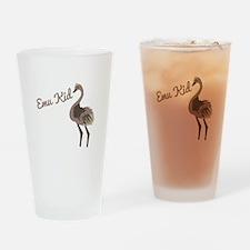 Emu Kid Drinking Glass