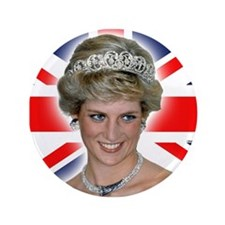 "HRH Princess Diana Professional Photo 3.5"" Button"