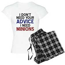 Advice Versus Minions pajamas