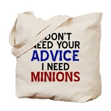 Advice Versus Minions Tote Bag