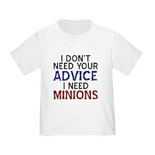 Advice Versus Minions T-Shirt