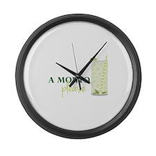 A Mojito Please Large Wall Clock