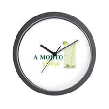 A Mojito Please Wall Clock