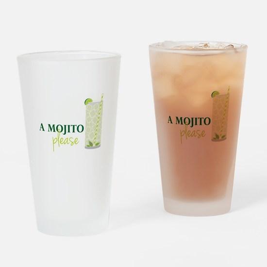 A Mojito Please Drinking Glass