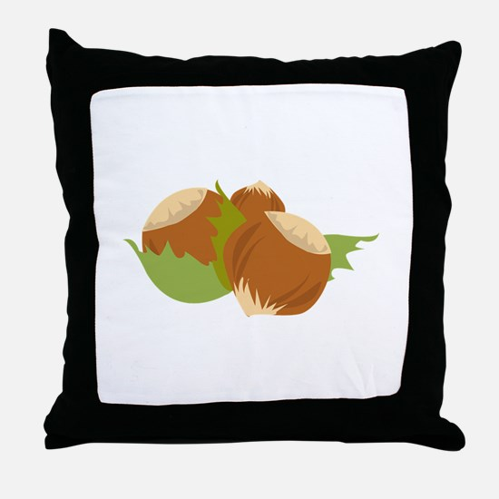 Hazelnuts Throw Pillow