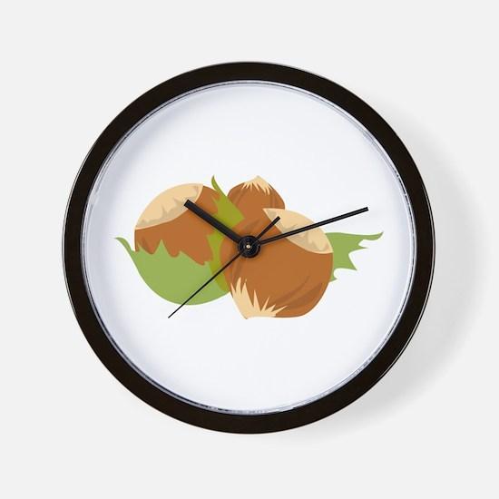 Hazelnuts Wall Clock