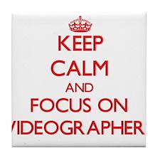 Keep calm video Tile Coaster