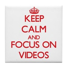 Funny Keep calm video Tile Coaster
