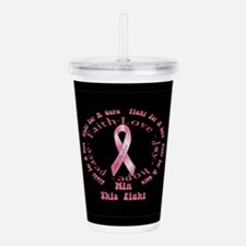 Breast Cancer Bag.png Acrylic Double-wall Tumbler